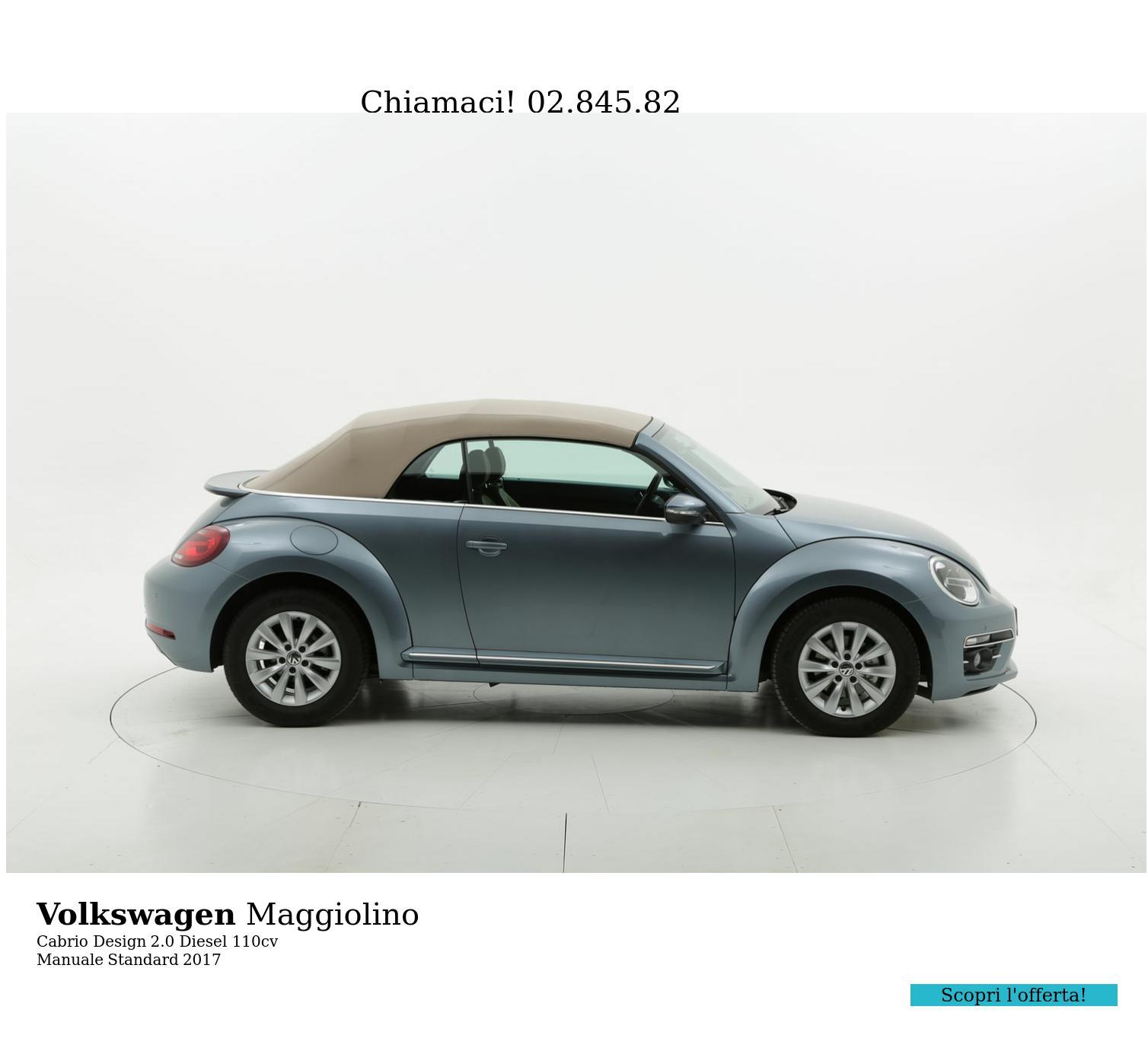 Volkswagen Maggiolino Cabrio Design km 0 diesel blu | brumbrum