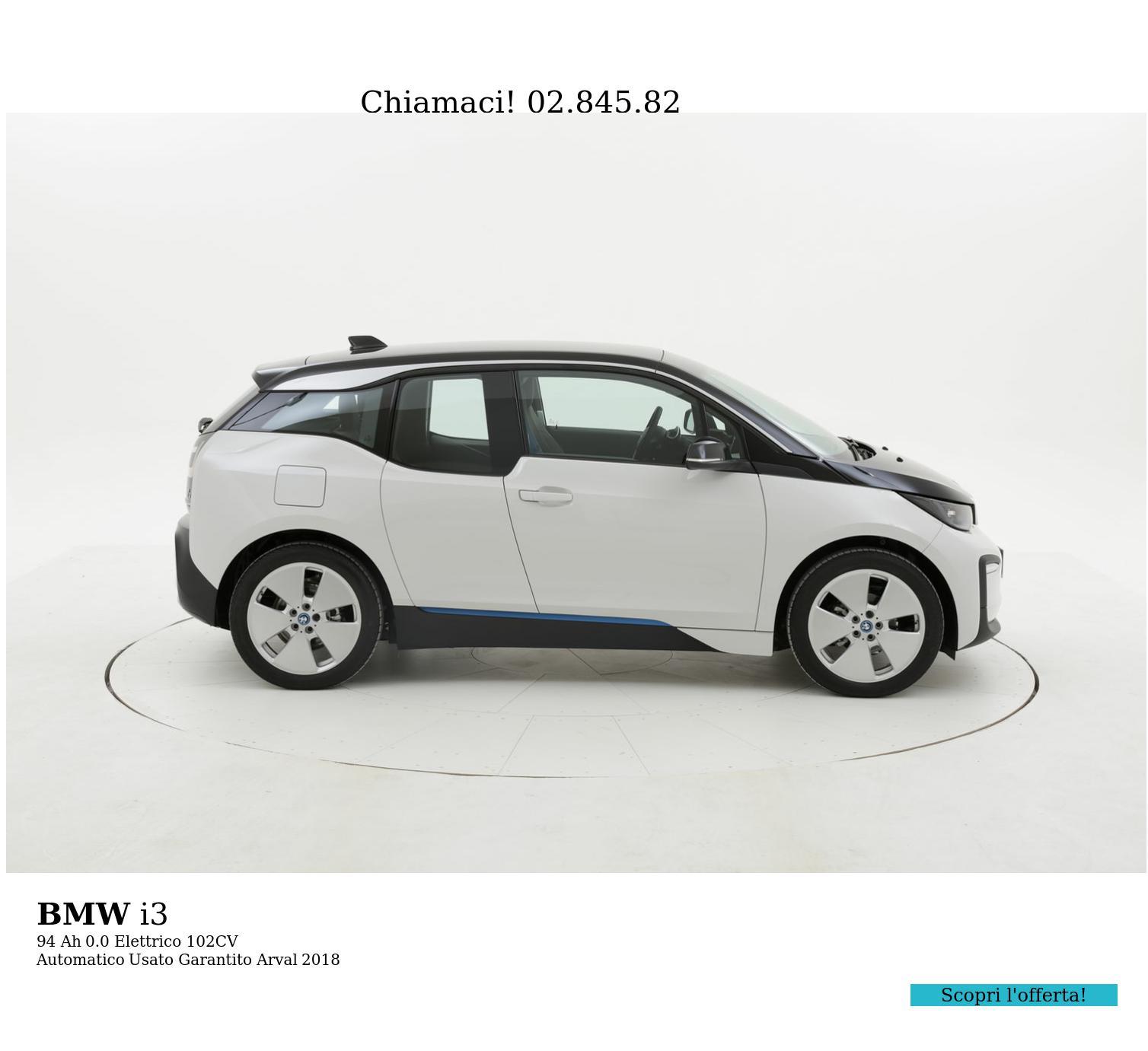 BMW I3 94 Ah km 0 elettrico bianca | brumbrum