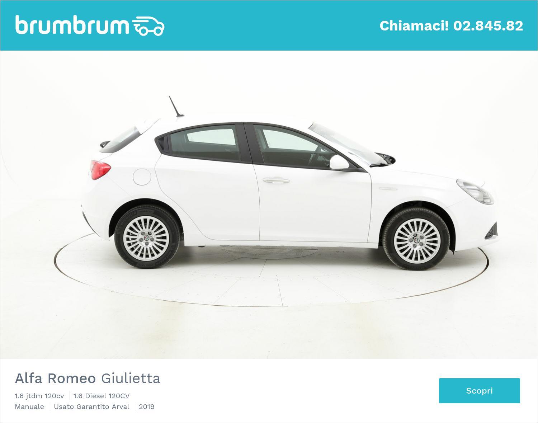 Alfa Romeo Giulietta 1.6 jtdm 120cv km 0 diesel bianca   brumbrum