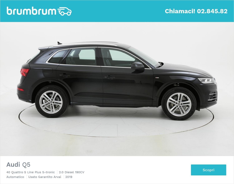 Audi Q5 40 Quattro S Line Plus S-tronic km 0 diesel nera | brumbrum