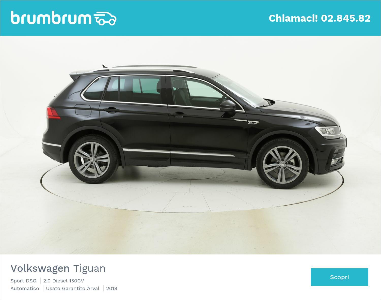 Volkswagen Tiguan Sport DSG km 0 diesel nera | brumbrum