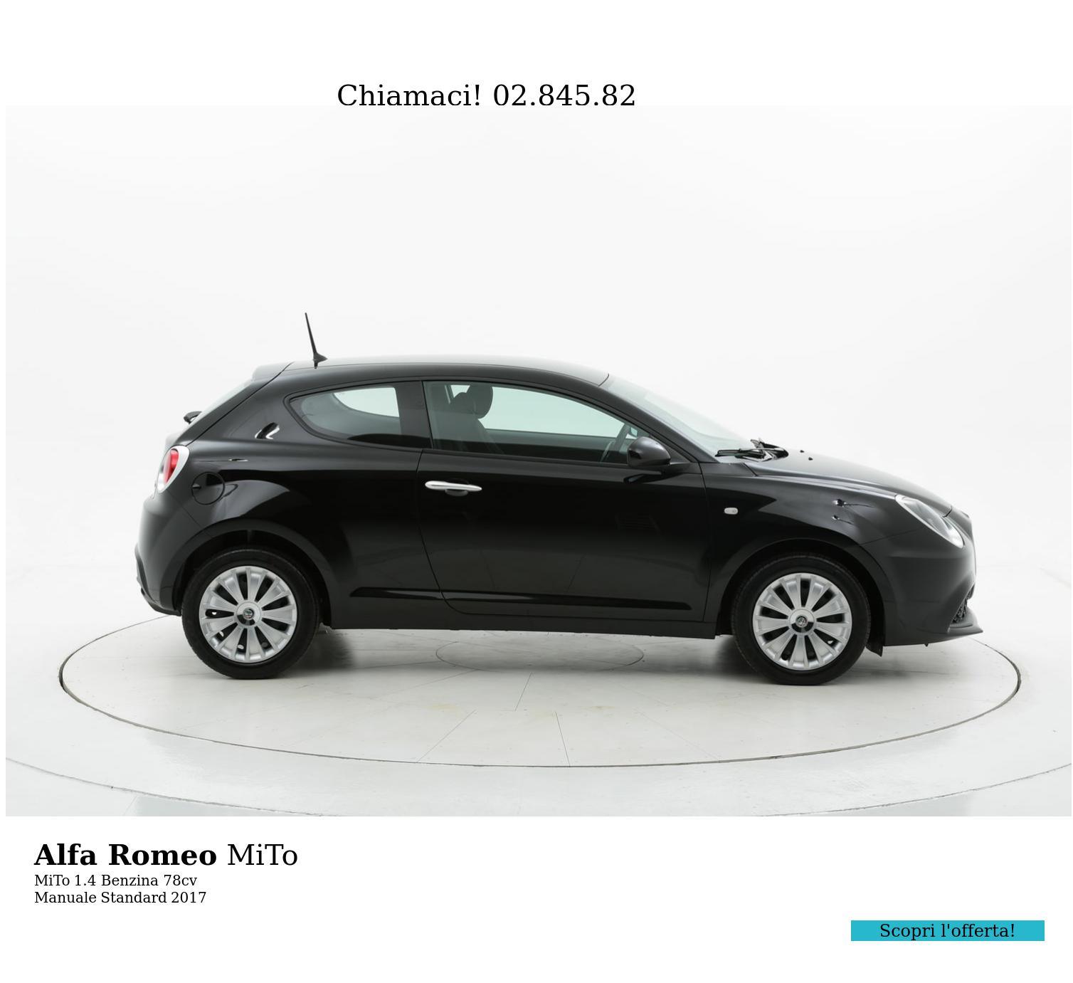 Alfa Romeo MiTo MiTo km 0 benzina nera | brumbrum