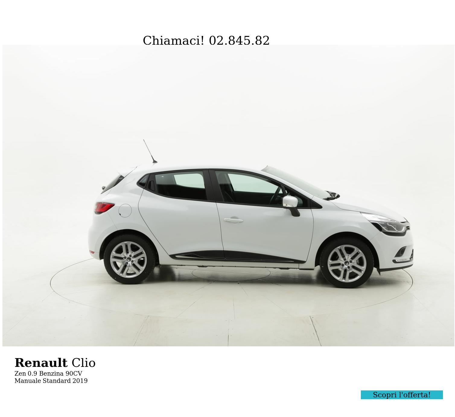 Renault Clio Zen km 0 benzina bianca   brumbrum