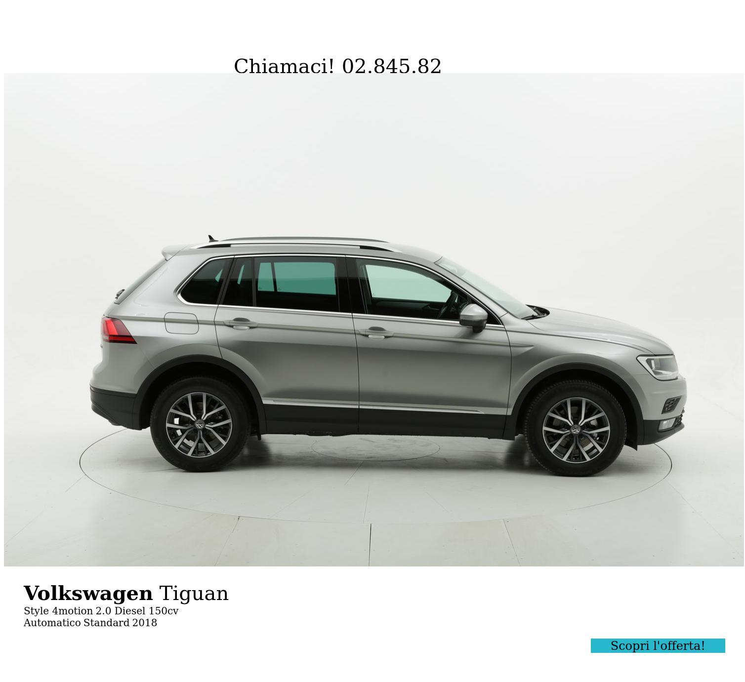 Volkswagen Tiguan Style 4motion km 0 diesel grigia | brumbrum