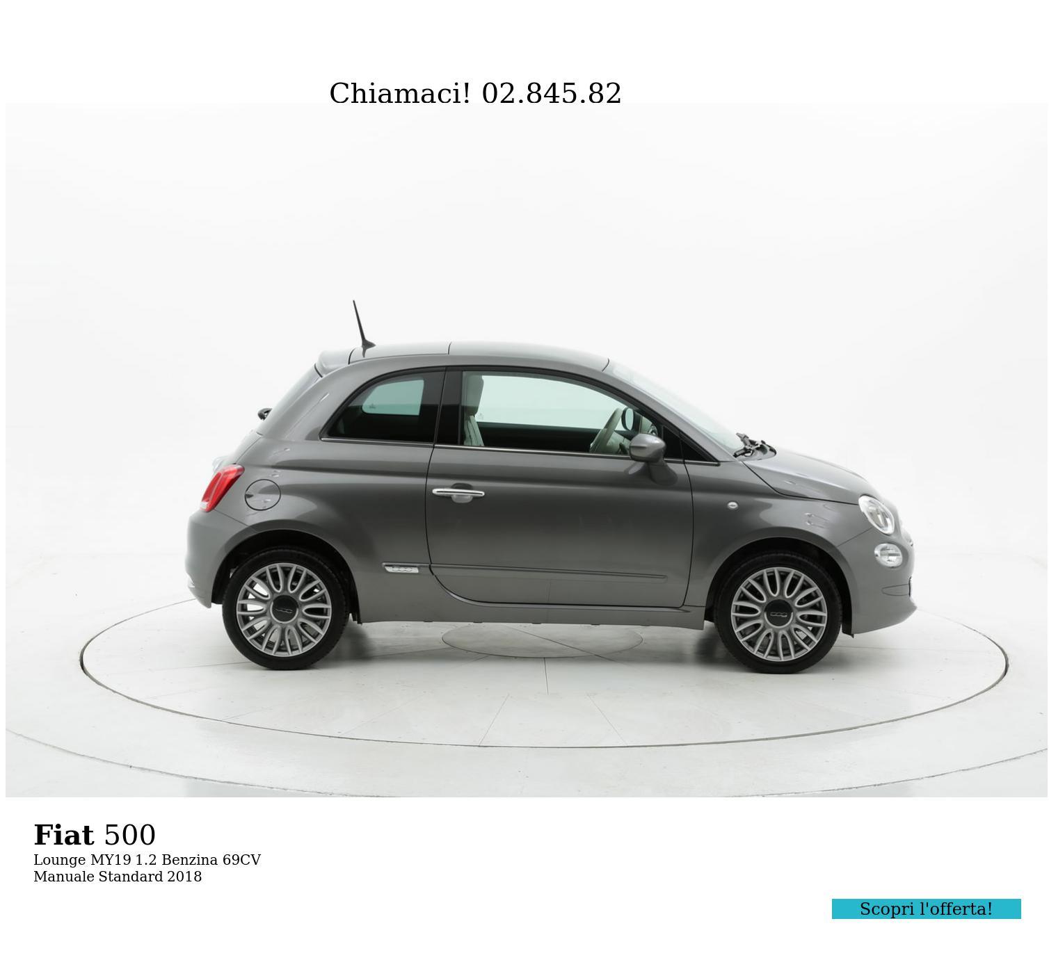 Fiat 500 Lounge MY19 km 0 benzina antracite | brumbrum