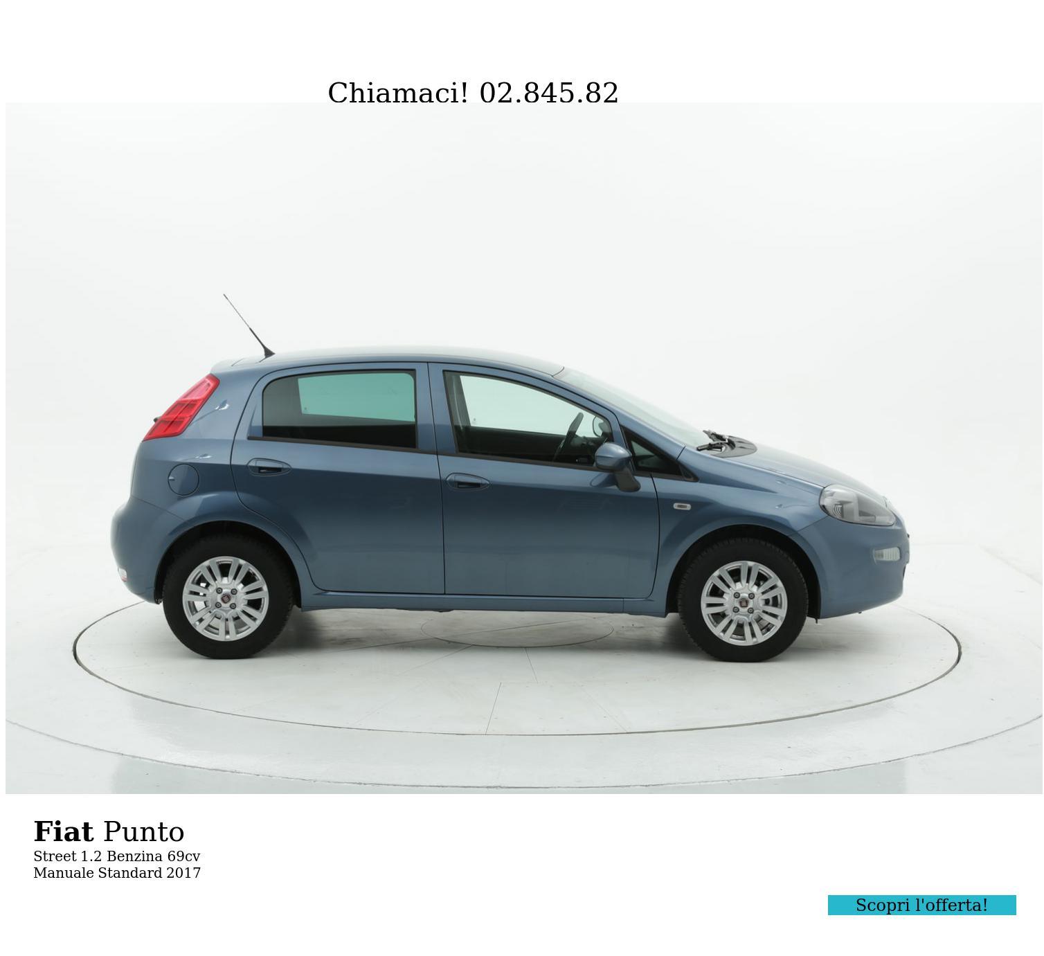 Fiat Punto Street km 0 benzina azzurra | brumbrum