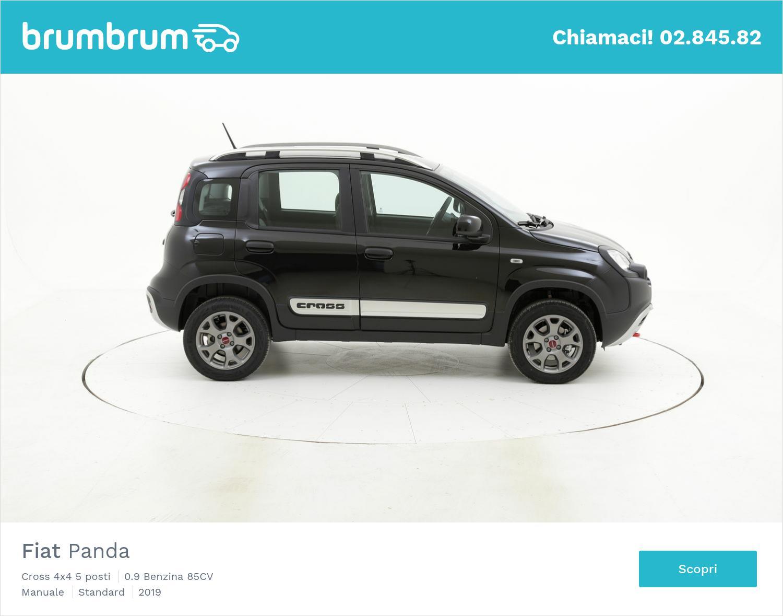 Fiat Panda Cross 4x4 5 posti km 0 benzina nera   brumbrum