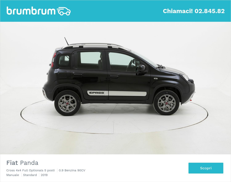Fiat Panda Cross 4x4 Full Optionals 5 posti km 0 benzina nera   brumbrum
