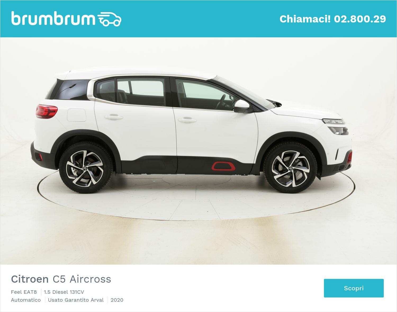 Citroen C5 Aircross Feel EAT8 km 0 diesel bianca | brumbrum
