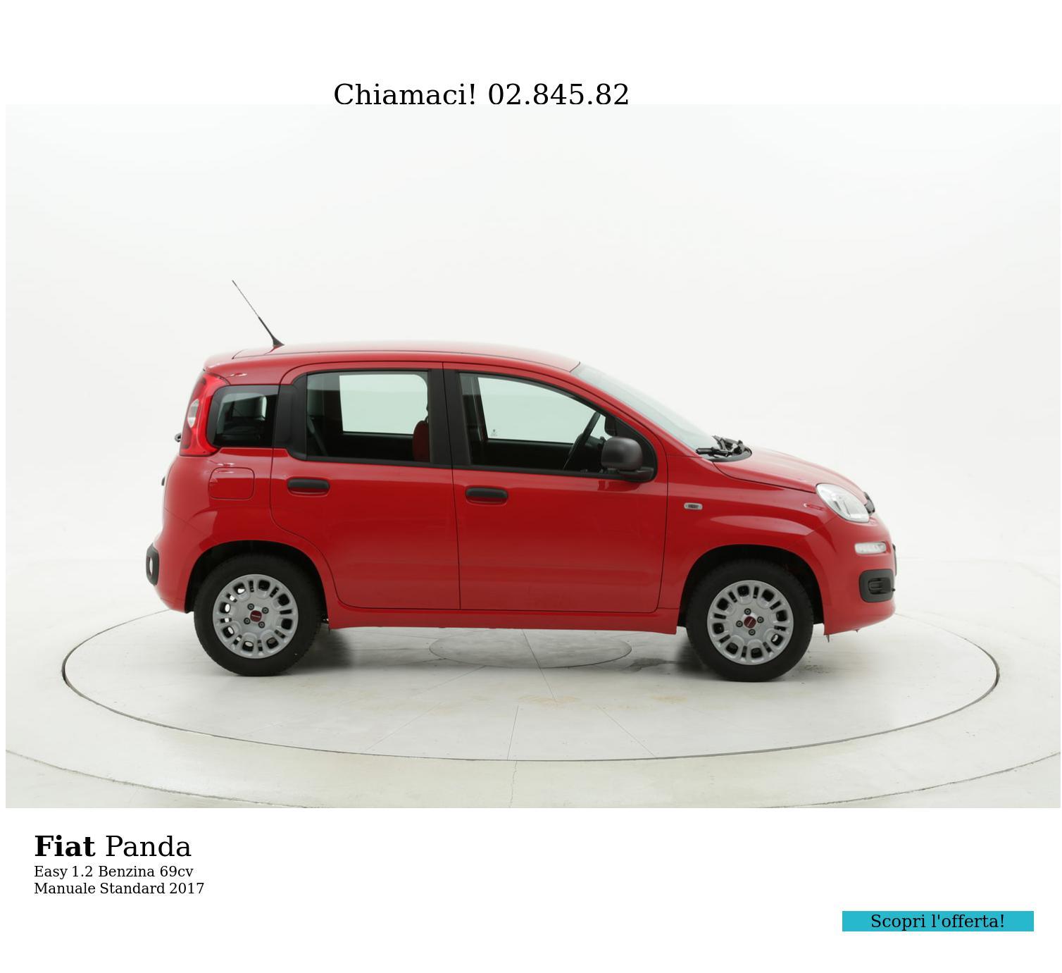 Fiat Panda Easy km 0 benzina rossa | brumbrum
