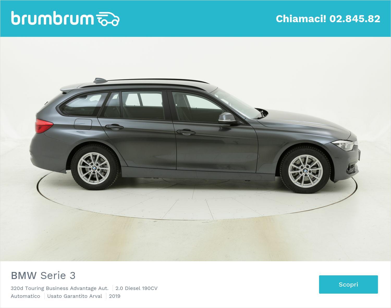 BMW Serie 3 320d Touring Business Advantage Aut. km 0 diesel grigia | brumbrum