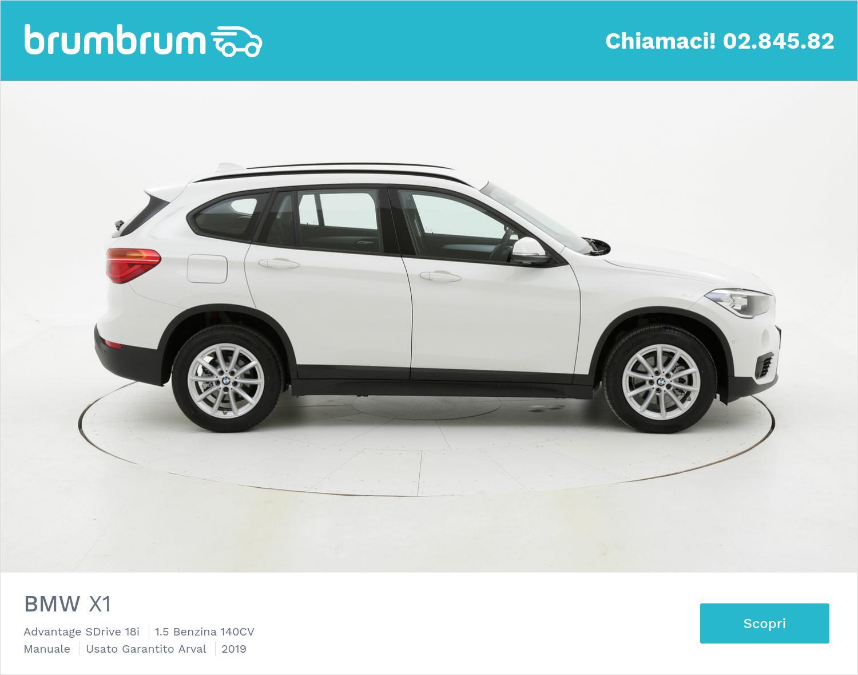 BMW X1 Advantage SDrive 18i  km 0 benzina bianca | brumbrum