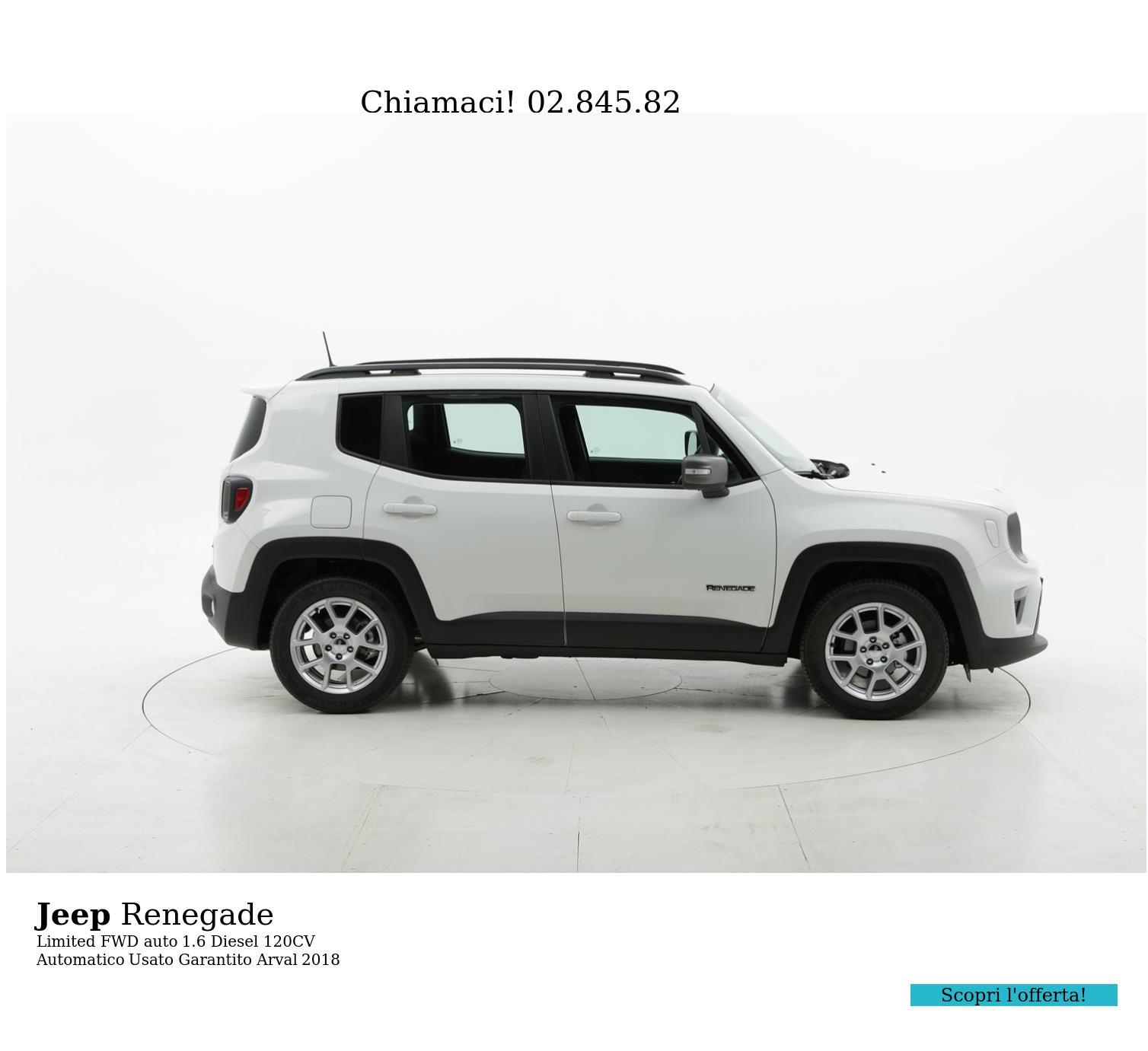 Jeep Renegade Limited FWD auto km 0 diesel bianca | brumbrum