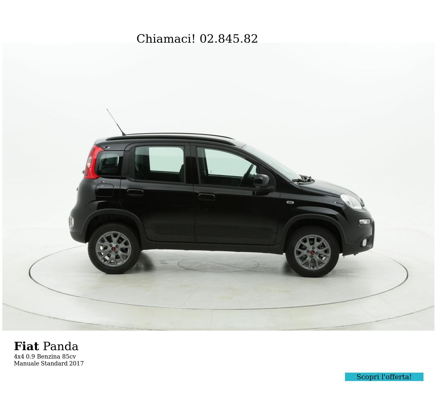 Fiat Panda 4x4 km 0 benzina nera | brumbrum
