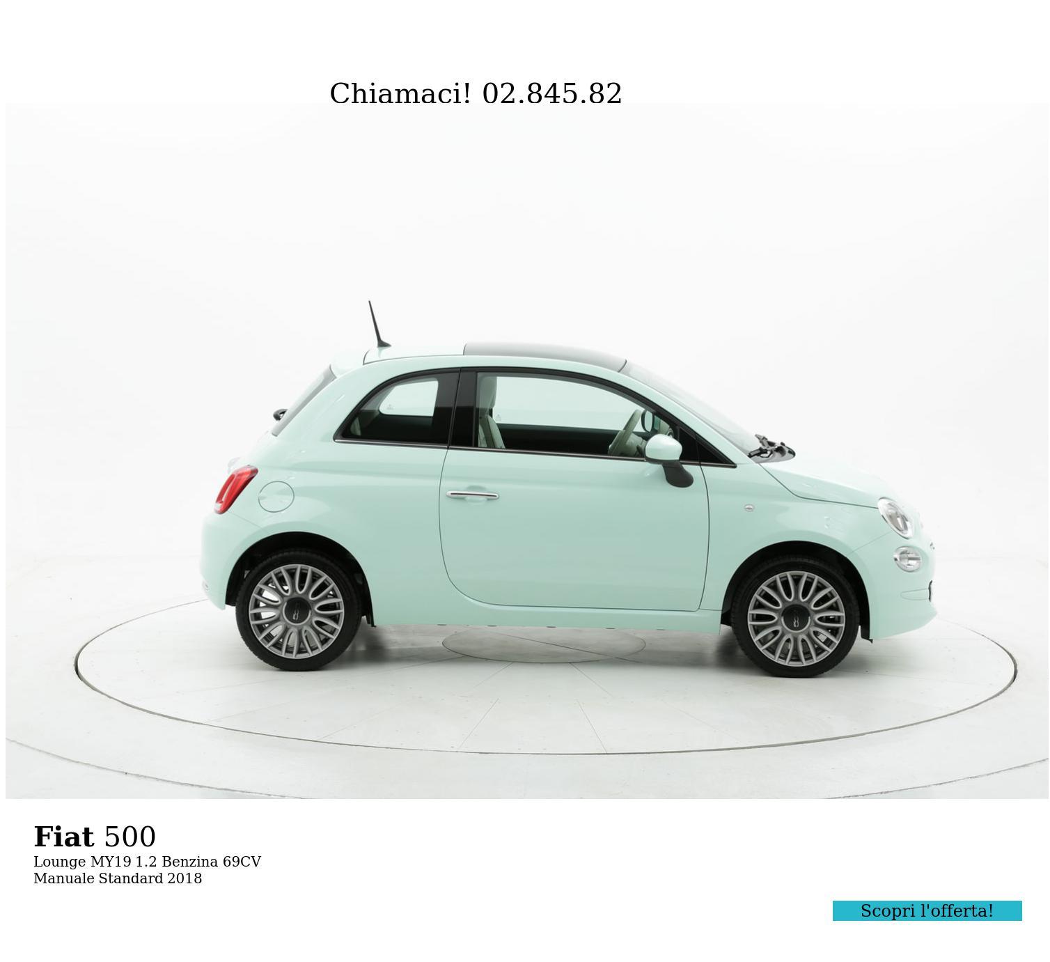 Fiat 500 Lounge MY19 km 0 benzina verde chiara | brumbrum
