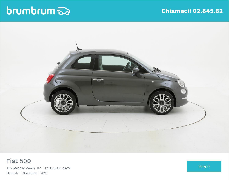 "Fiat 500 Star My2020 Cerchi 16"" km 0 benzina antracite   brumbrum"