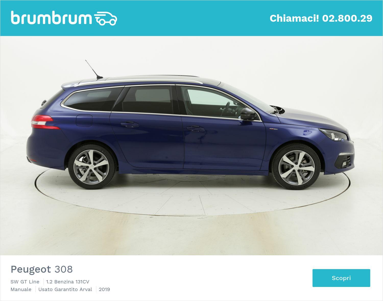 Peugeot 308 SW GT Line km 0 benzina blu | brumbrum