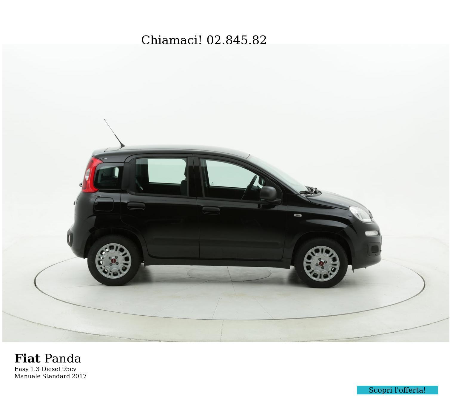 Fiat Panda Easy km 0 diesel nera   brumbrum