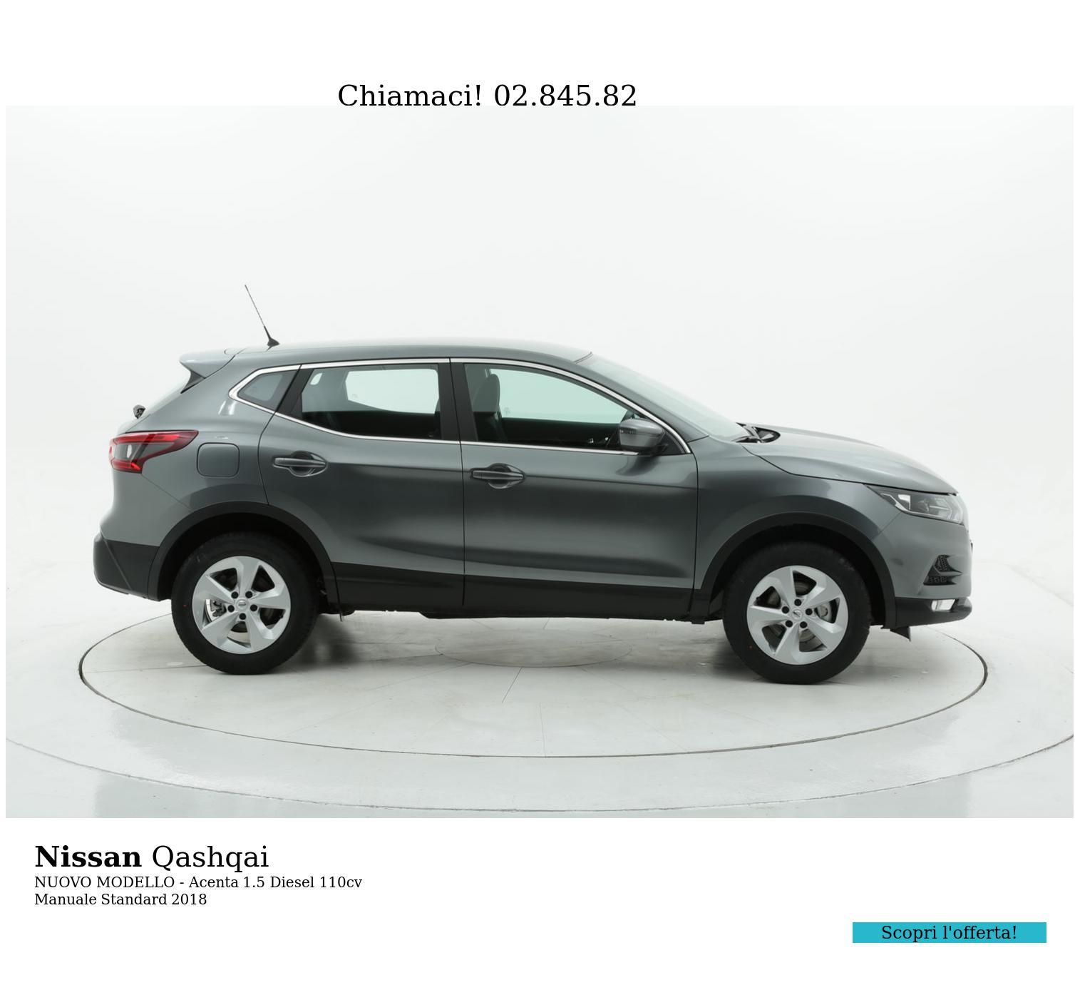 Nissan Qashqai NUOVO MODELLO - Acenta km 0 diesel antracite   brumbrum