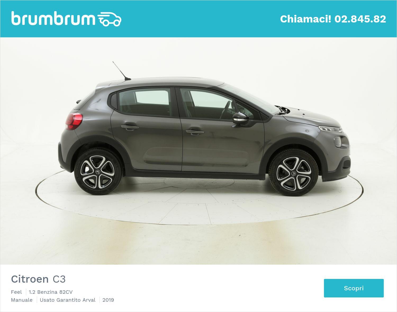 Citroen C3 Feel km 0 benzina grigia | brumbrum