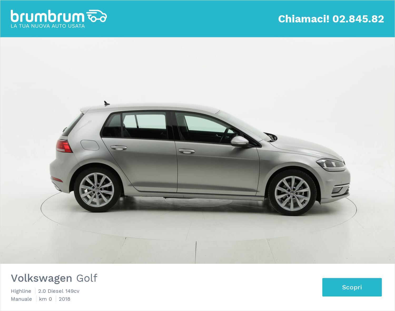 Volkswagen Golf Highline km 0 diesel grigia | brumbrum