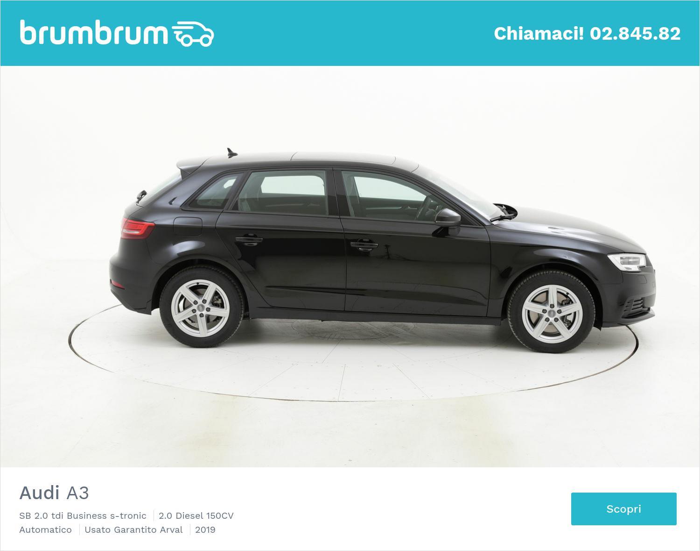 Audi A3 SB 2.0 tdi Business s-tronic km 0 diesel nera | brumbrum