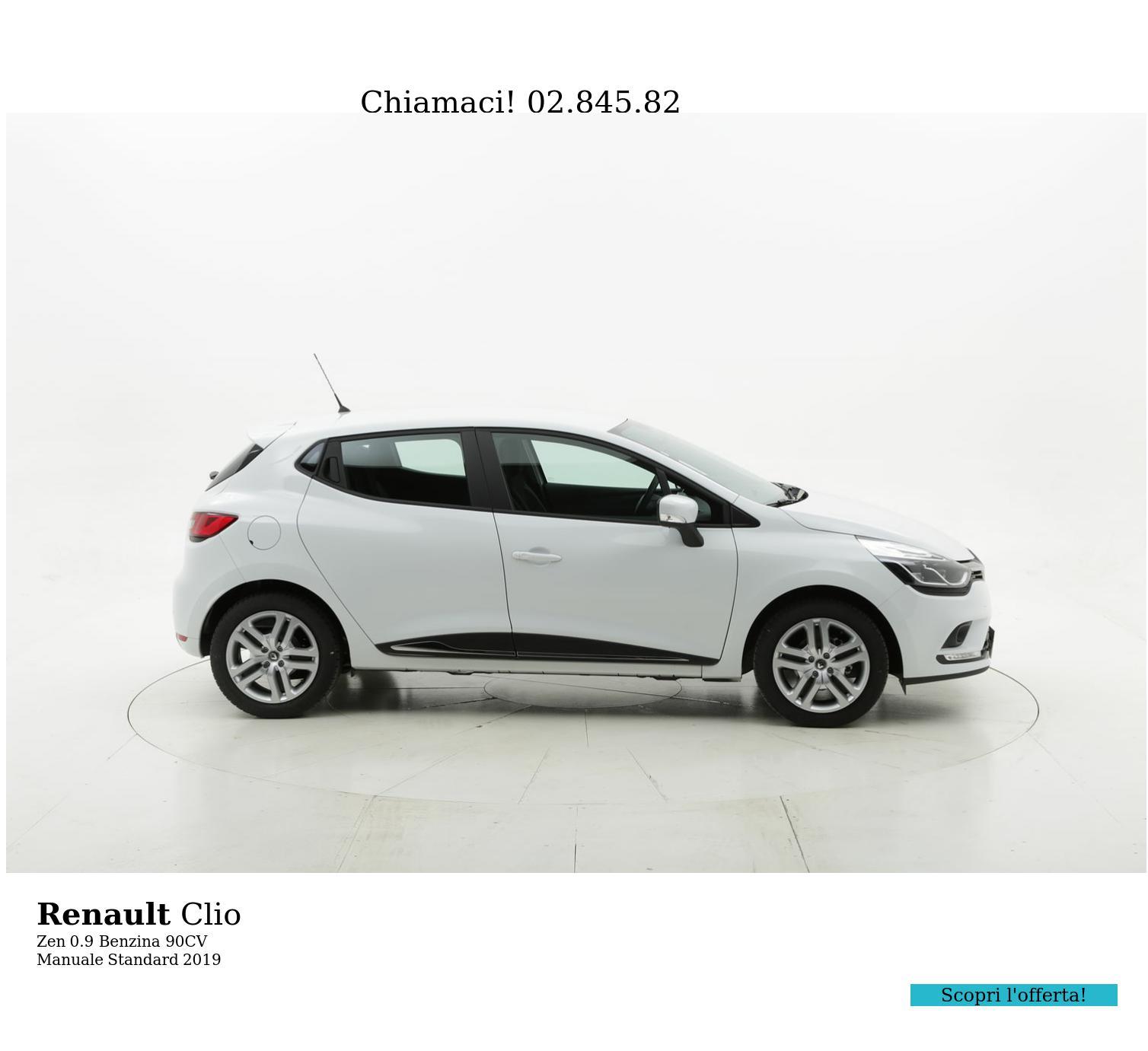 Renault Clio Zen km 0 benzina bianca | brumbrum