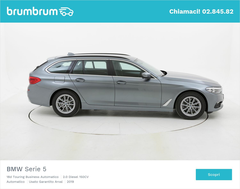 BMW Serie 5 18d Touring Business Automatico km 0 diesel grigia | brumbrum
