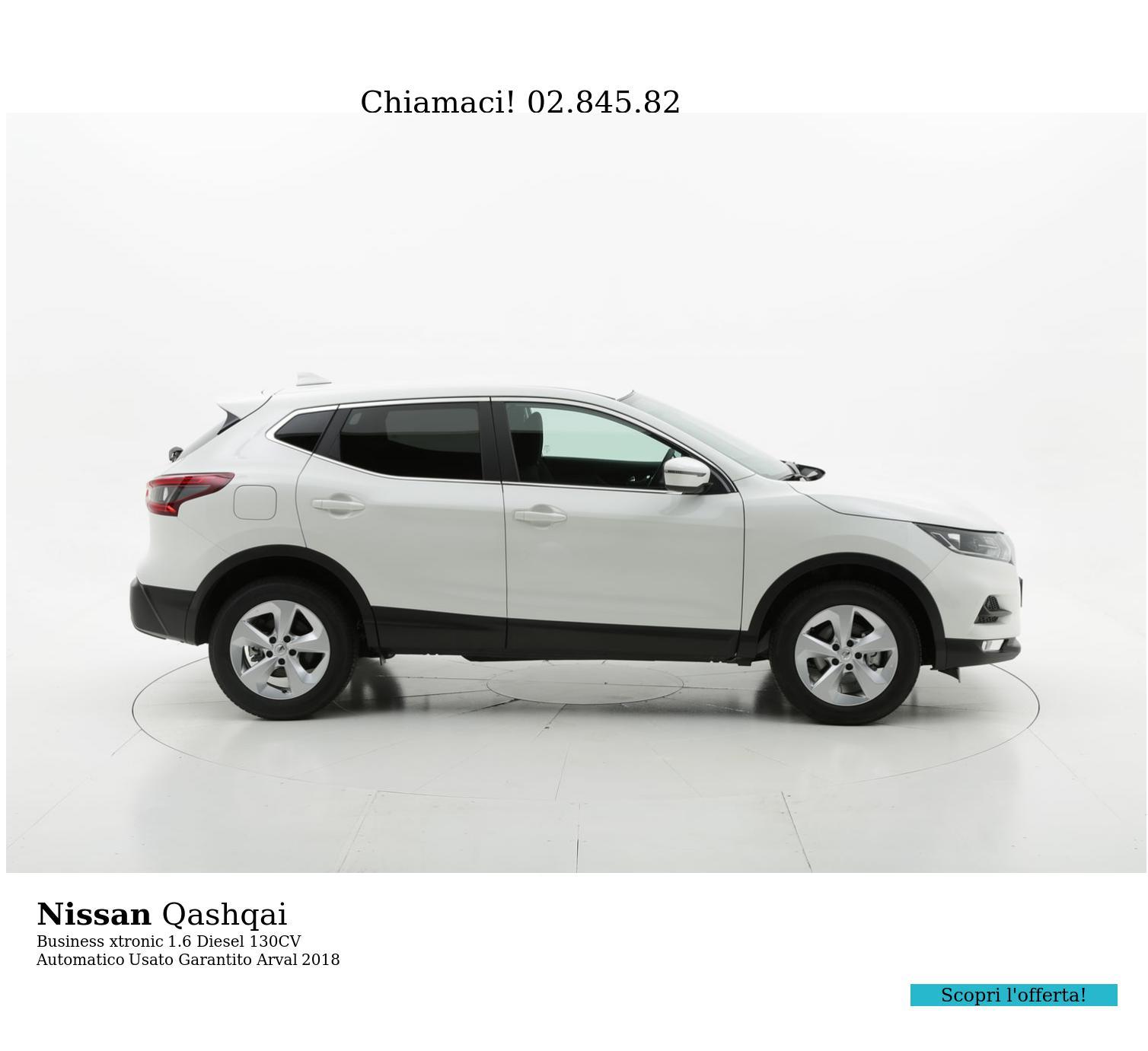 Nissan Qashqai Business xtronic km 0 diesel bianca   brumbrum
