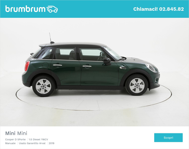 Mini Mini Cooper D 5Porte km 0 diesel verde scura | brumbrum