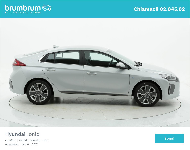 Hyundai Ioniq Comfort km 0 ibrido benzina argento | brumbrum