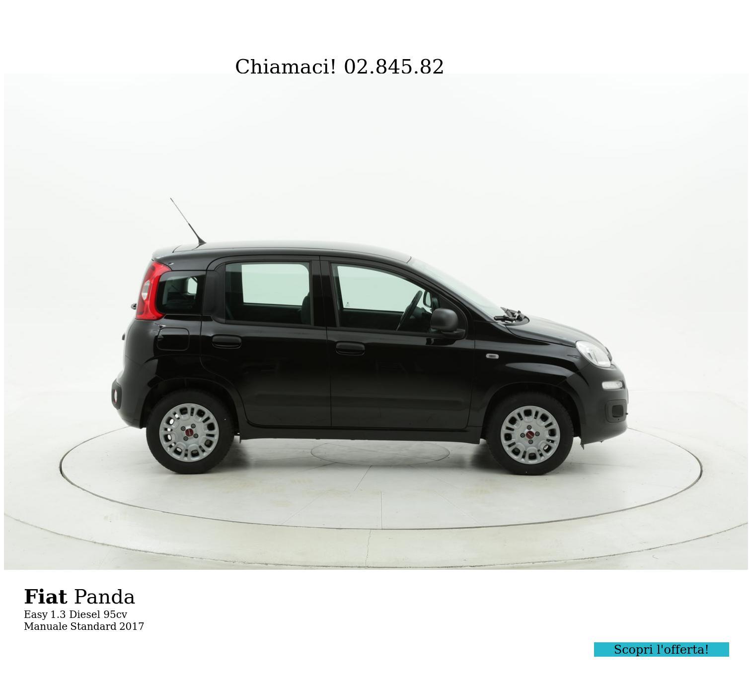 Fiat Panda Easy km 0 diesel nera | brumbrum