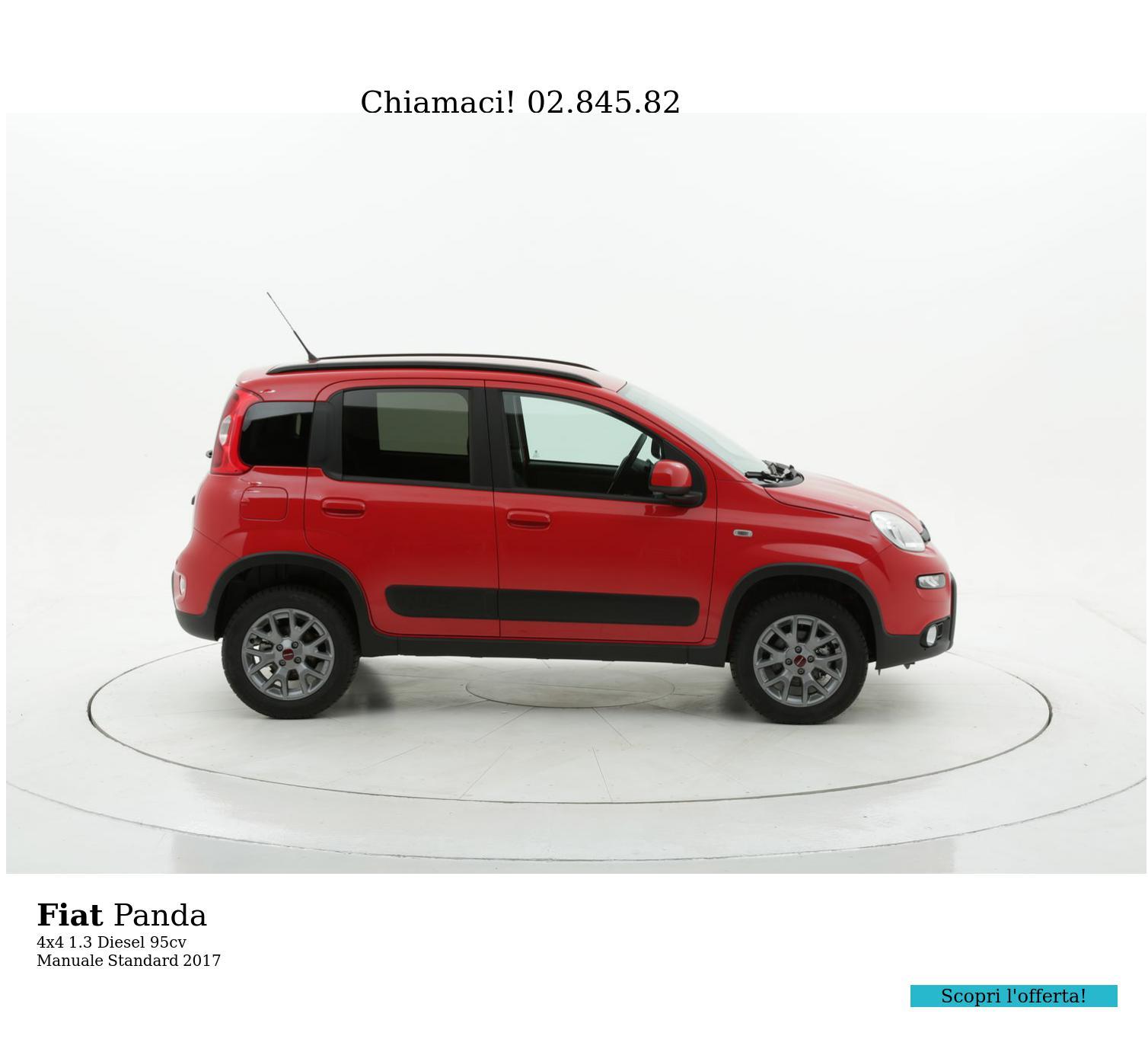 Fiat Panda 4x4 km 0 diesel rossa | brumbrum