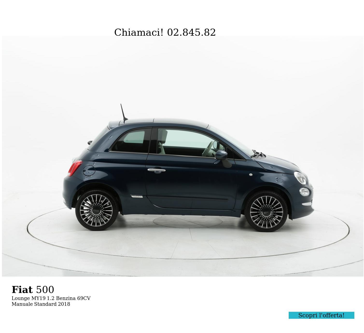 Fiat 500 Lounge MY19 km 0 benzina blu | brumbrum