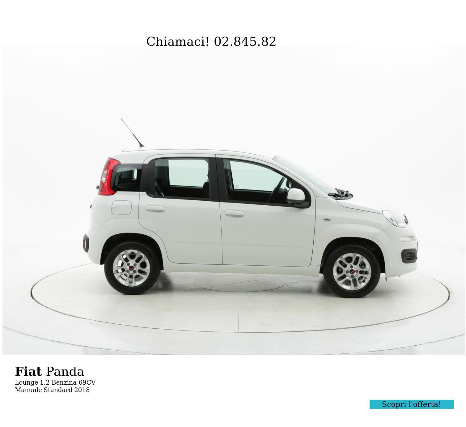 Fiat Panda Lounge km 0 benzina bianca   brumbrum