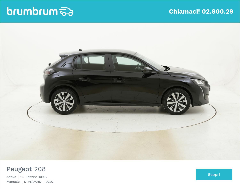 Peugeot 208 Active km 0 benzina nera | brumbrum