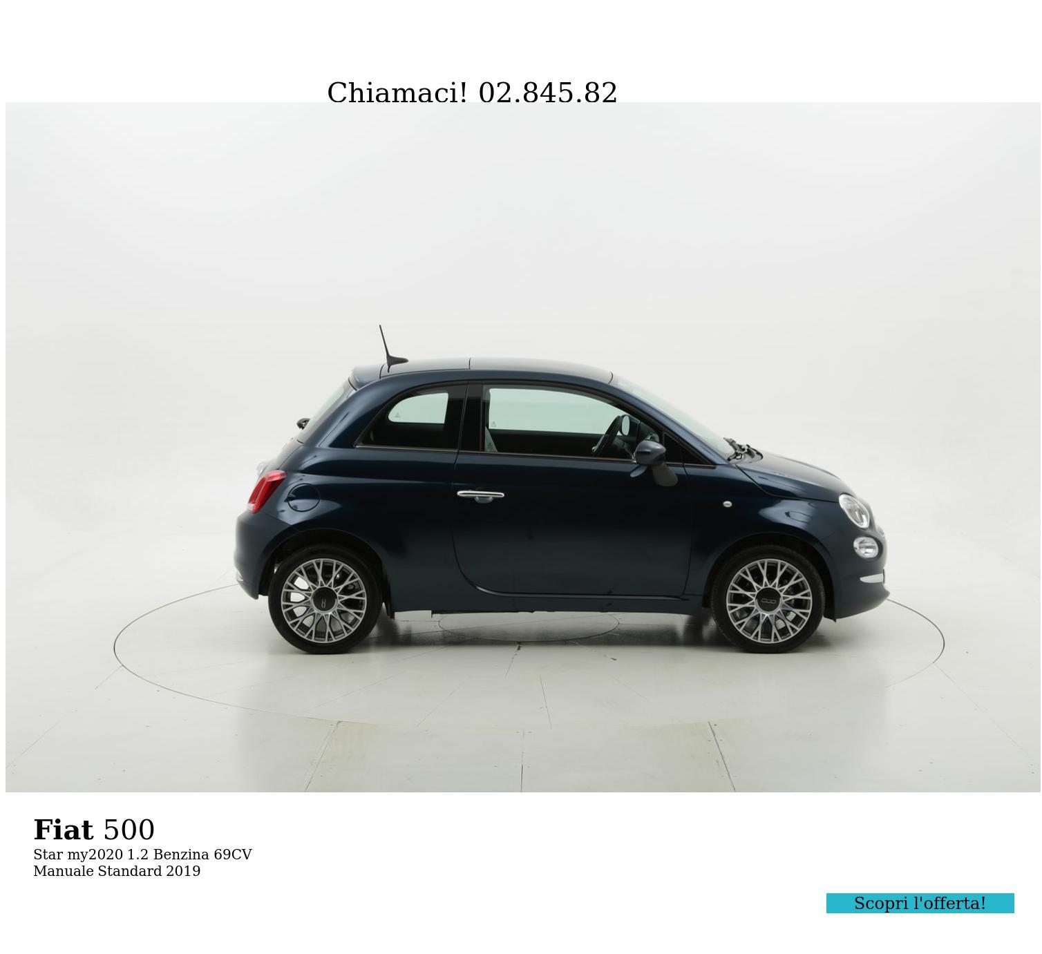 Fiat 500 Star my2020 km 0 benzina blu   brumbrum