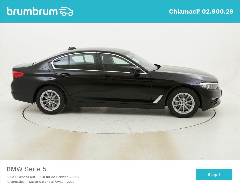 BMW Serie 5 530e Business aut. km 0 ibrido benzina nera   brumbrum