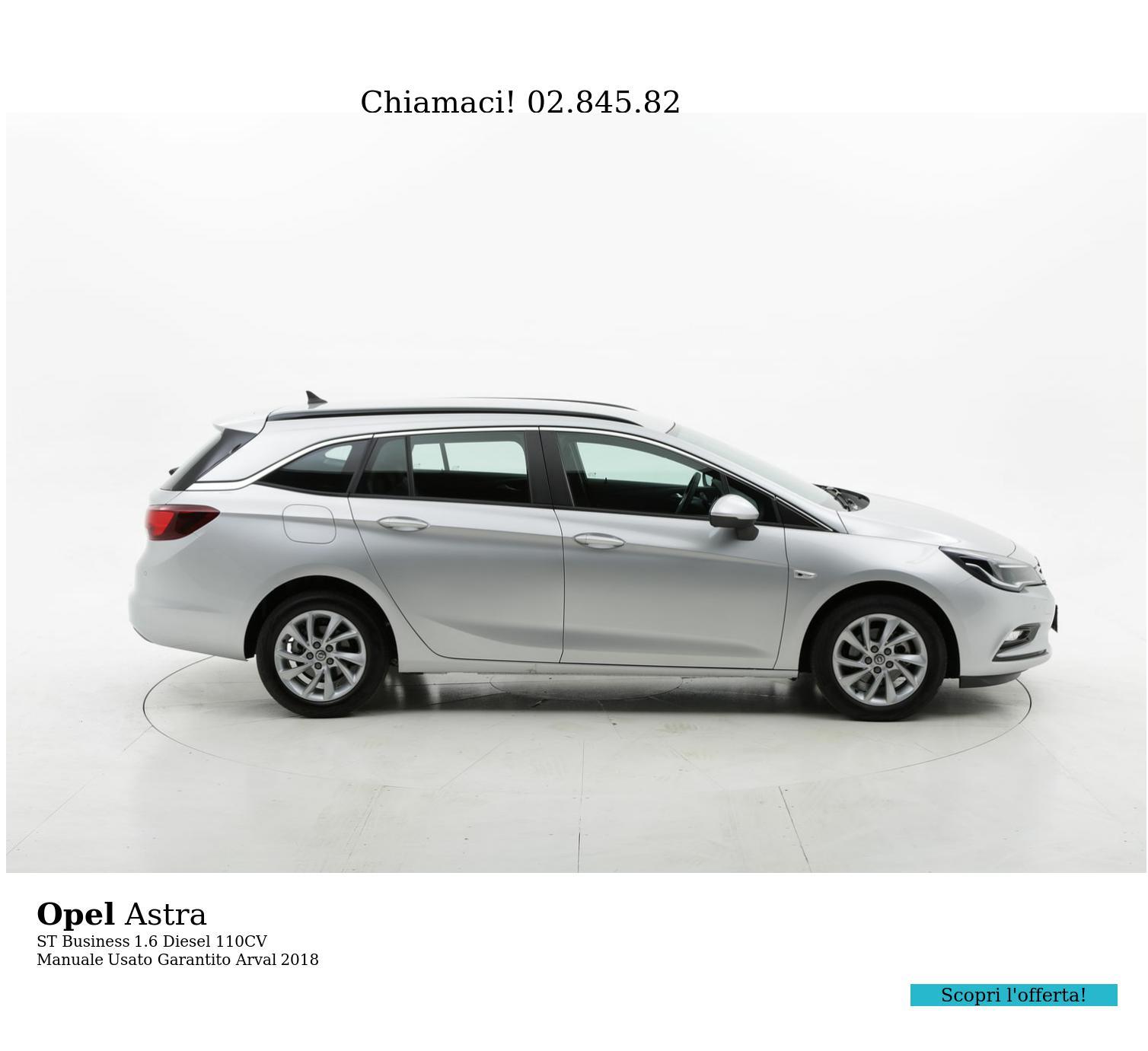 Opel Astra ST Business km 0 diesel argento   brumbrum