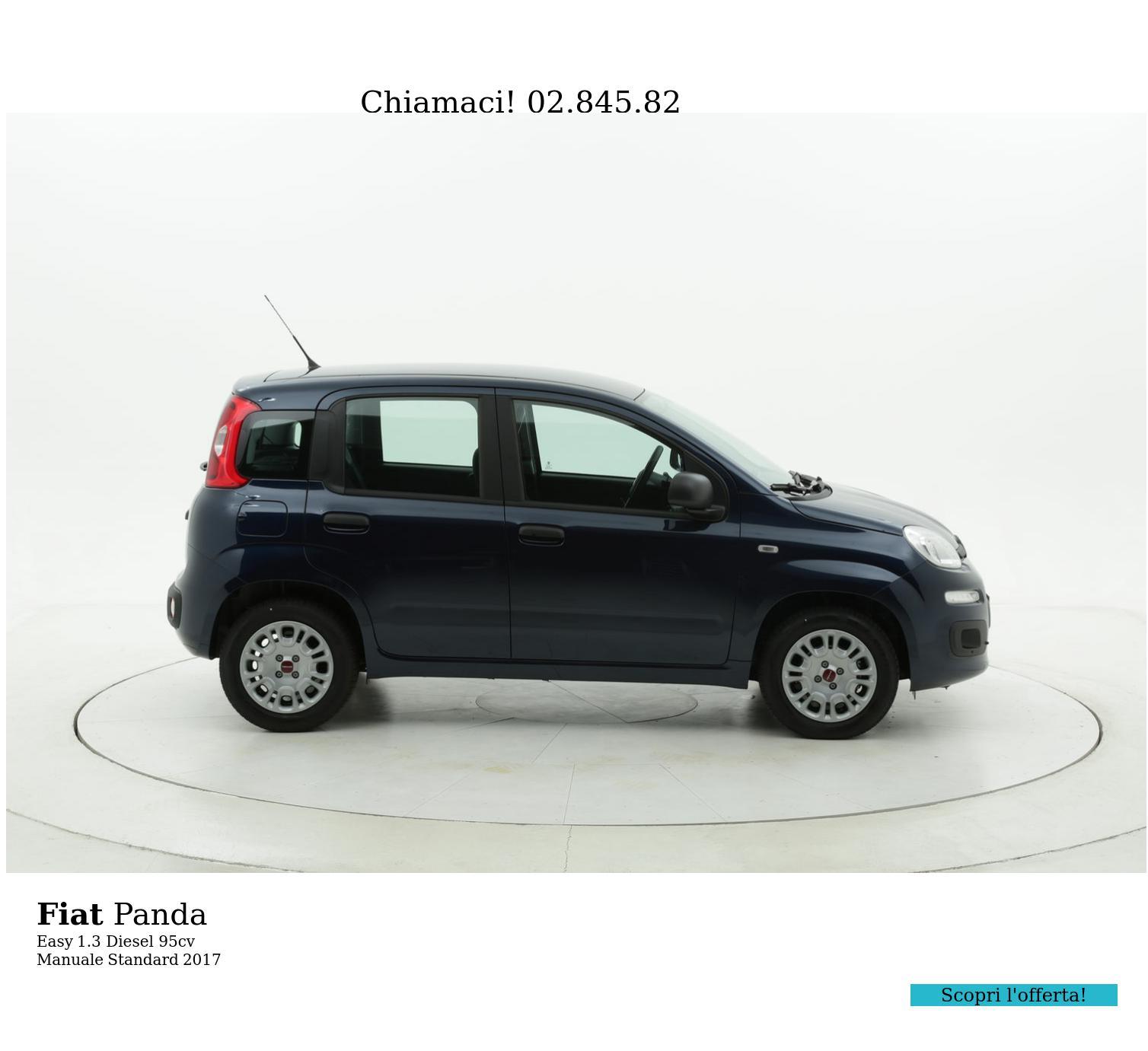 Fiat Panda Easy km 0 diesel blu | brumbrum