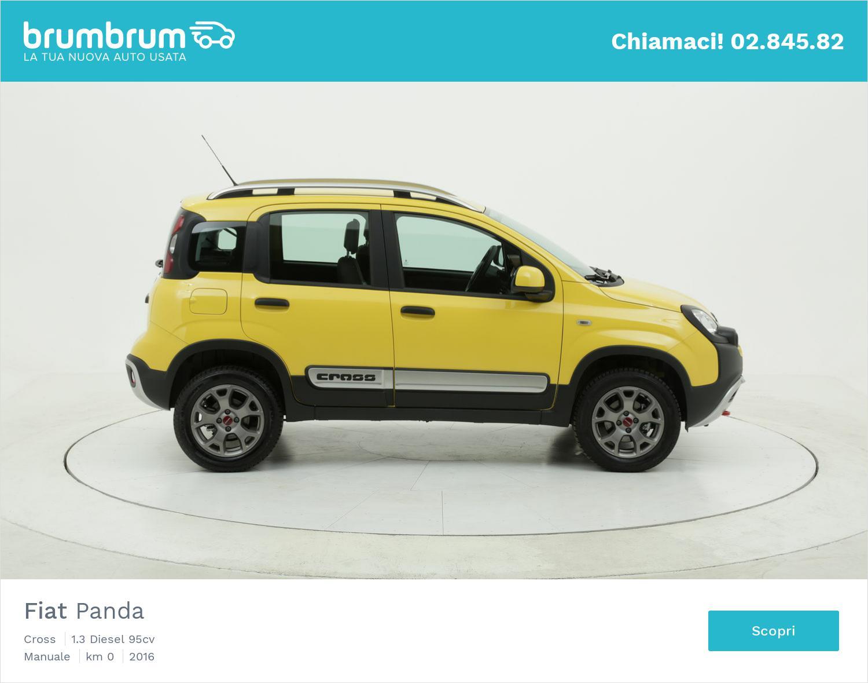 Fiat Panda Cross km 0 diesel gialla   brumbrum