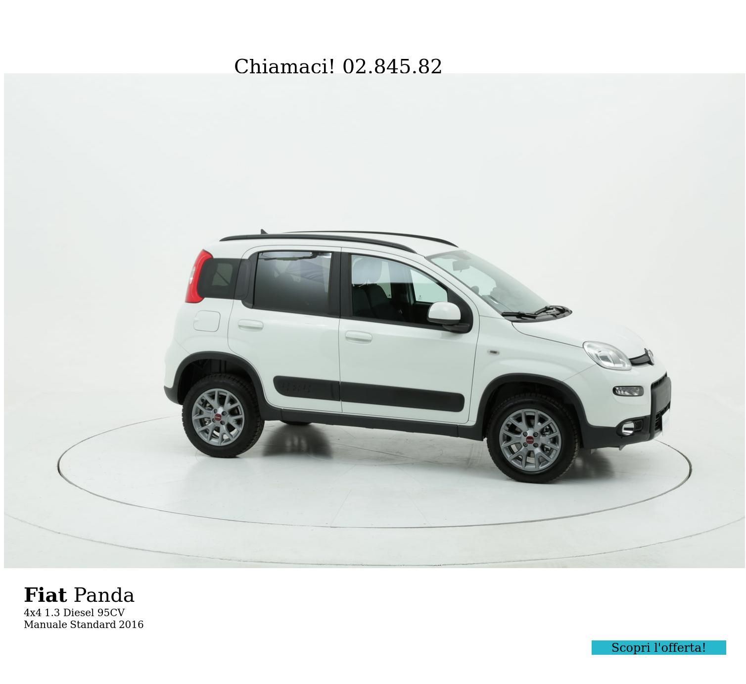 Fiat Panda 4x4 km 0 diesel bianca | brumbrum