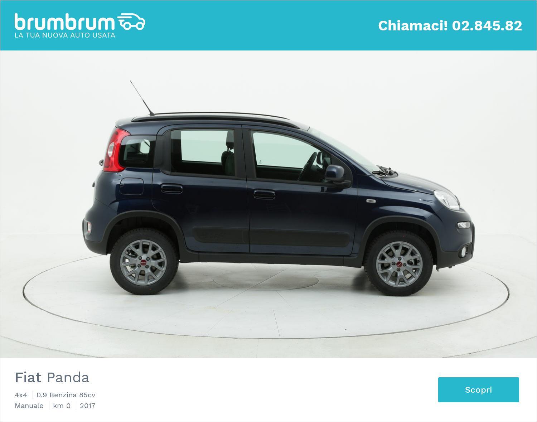 Fiat Panda 4x4 km 0 benzina blu | brumbrum