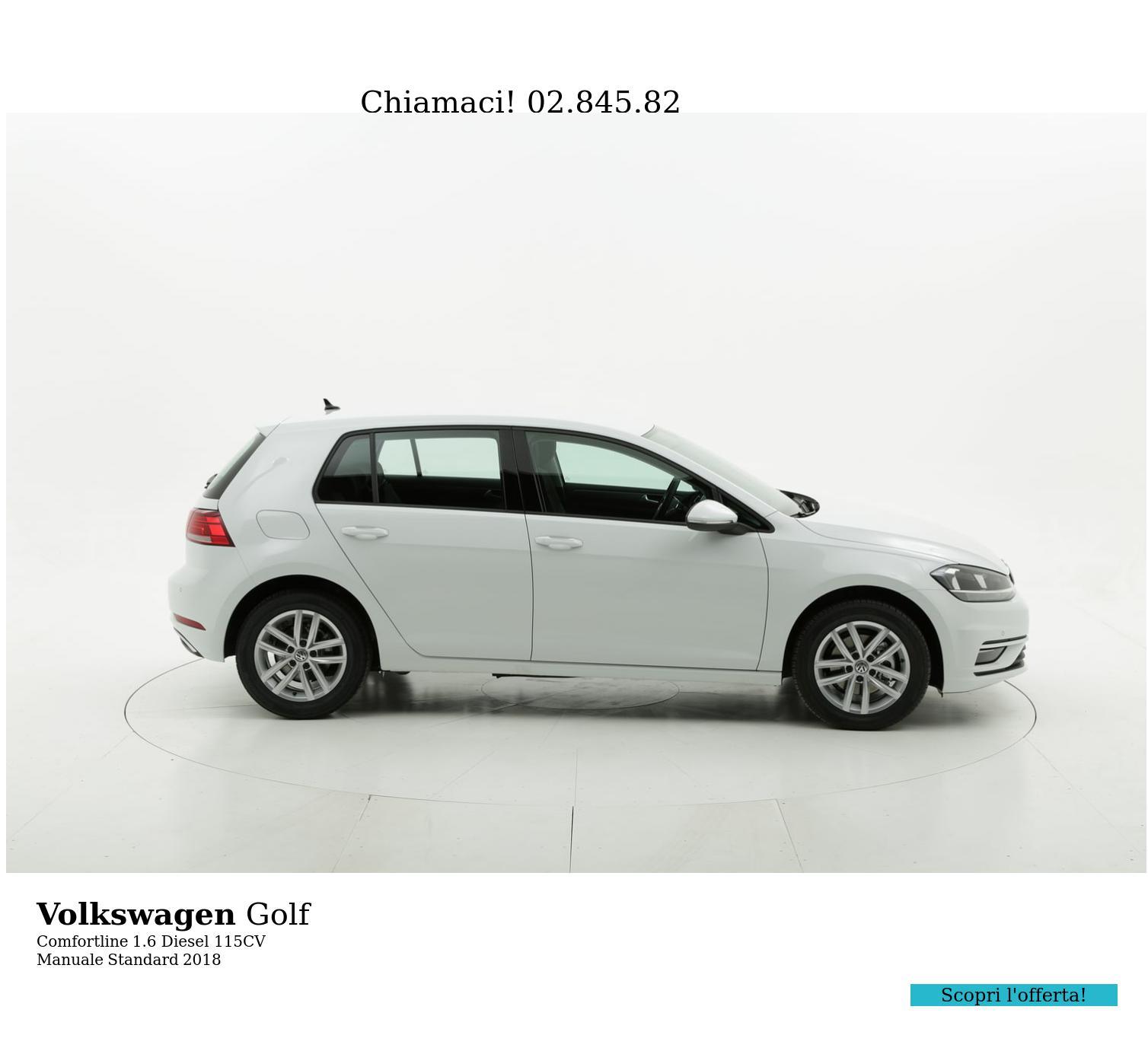 Volkswagen Golf Comfortline km 0 diesel bianca | brumbrum