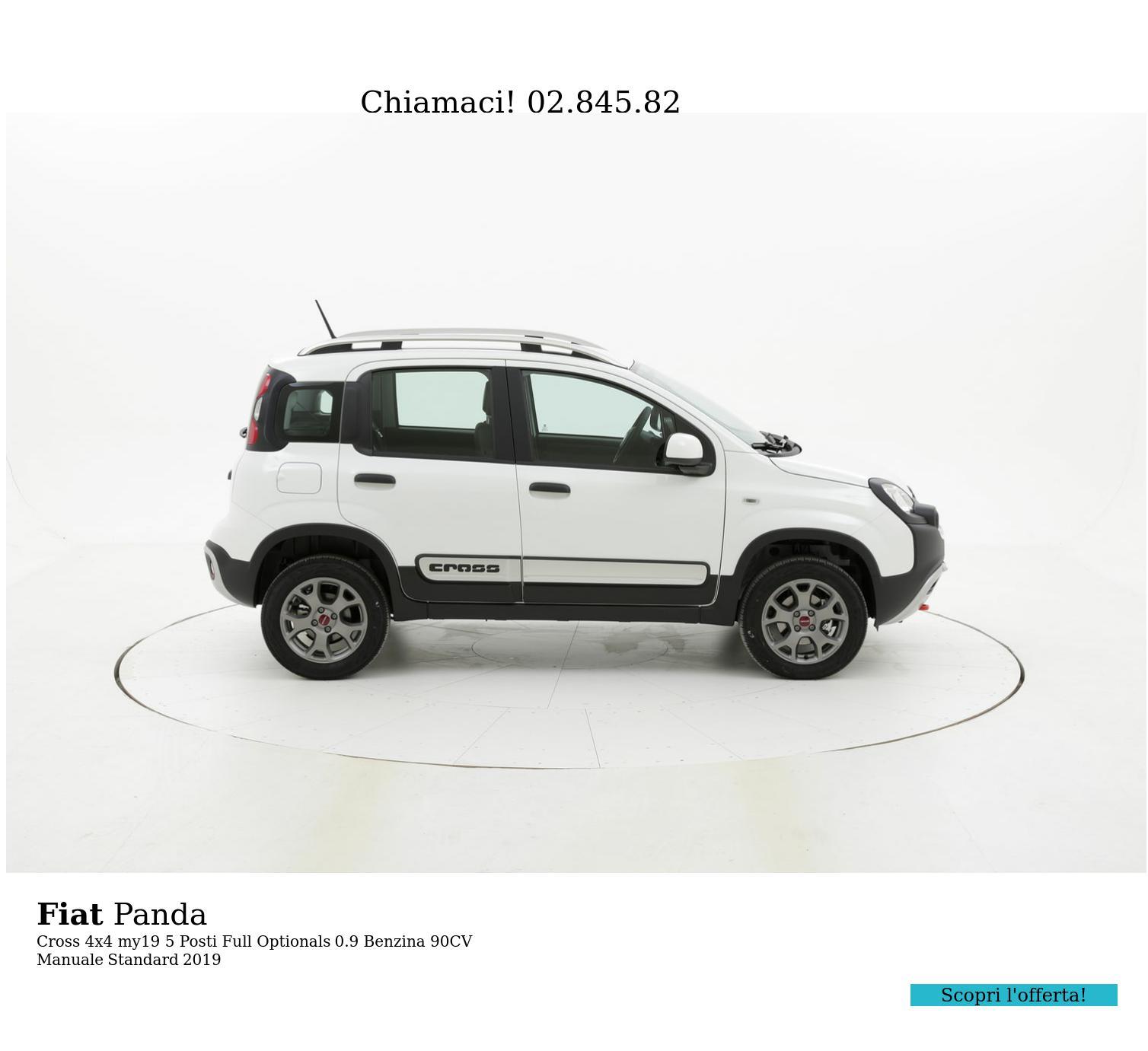 Fiat Panda Cross 4x4 my19 5 Posti Full Optionals km 0 benzina bianca   brumbrum