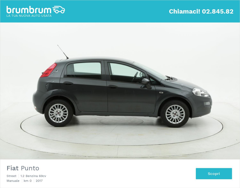 Fiat Punto Street km 0 benzina antracite | brumbrum