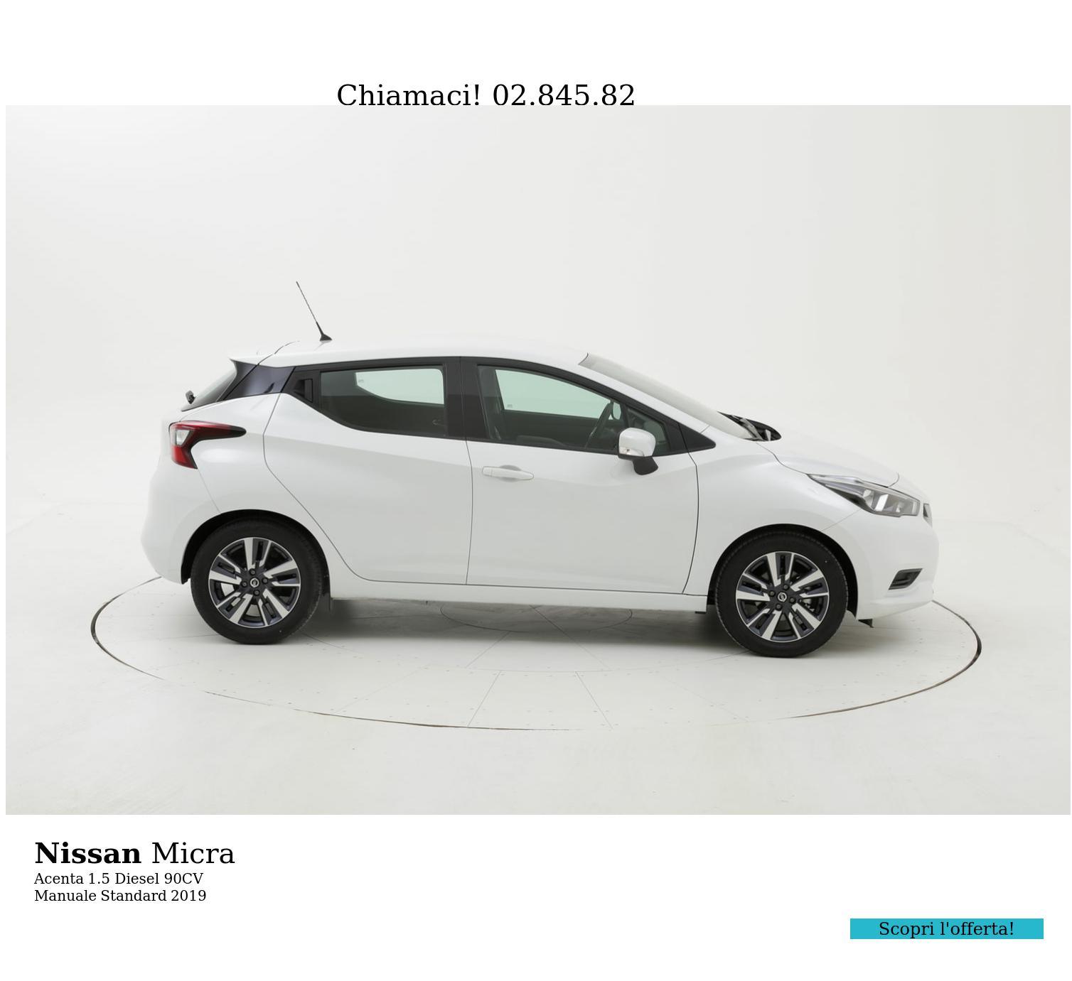 Nissan Micra Acenta km 0 diesel bianca | brumbrum