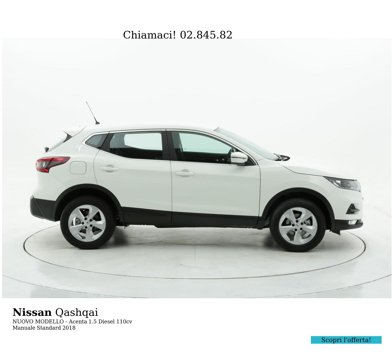 Nissan Qashqai NUOVO MODELLO - Acenta km 0 diesel bianca   brumbrum