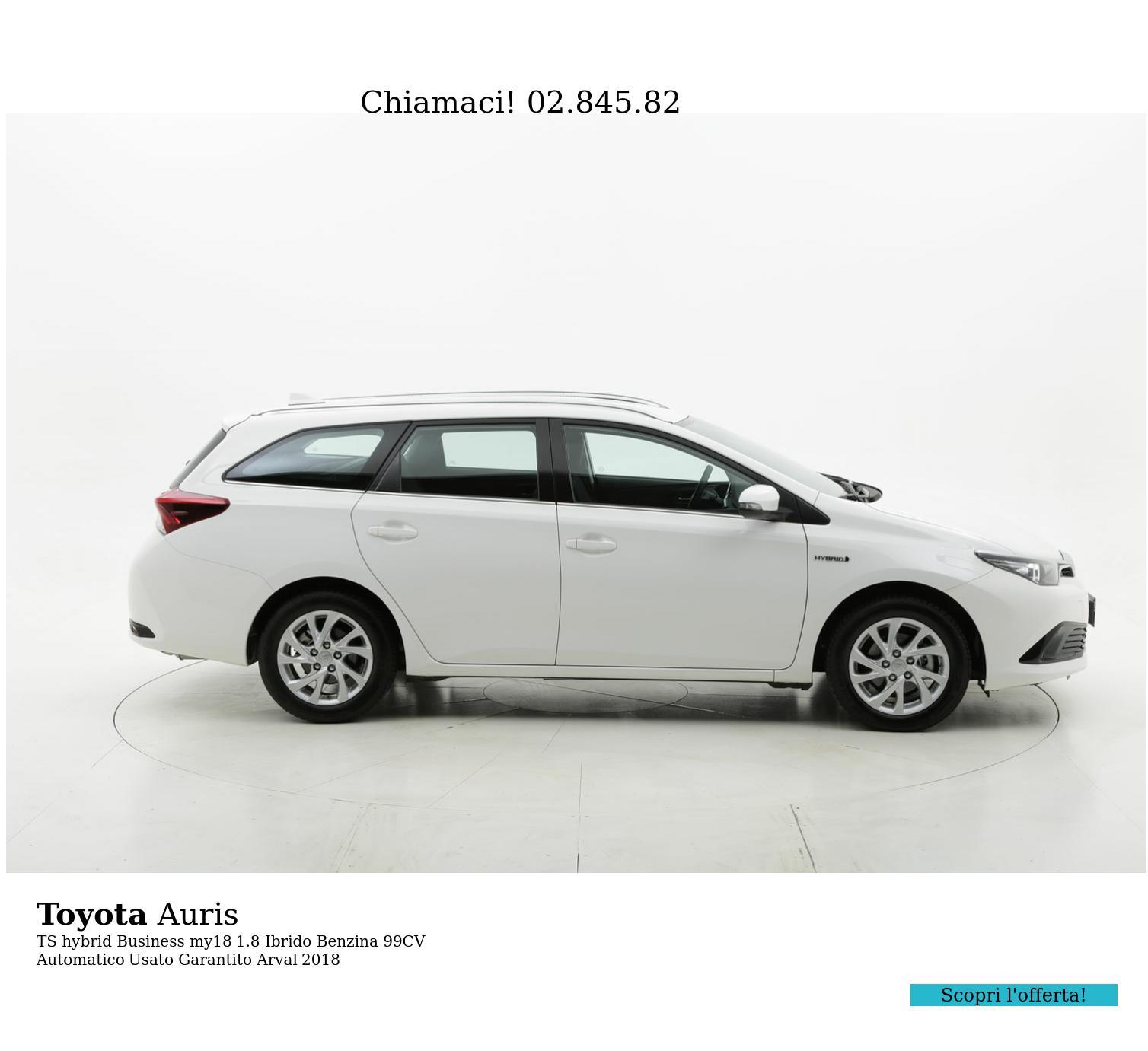 Toyota Auris TS hybrid Business my18 km 0 ibrido benzina bianca | brumbrum