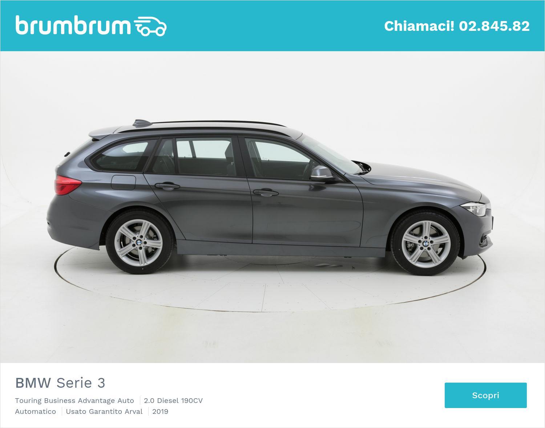 BMW Serie 3 Touring Business Advantage Auto km 0 diesel grigia | brumbrum